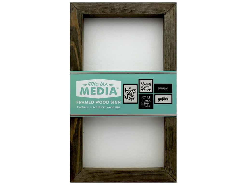 Jillibean Soup Collection MixThe Media Rustic Frame 6 in. x 10 in. White Center