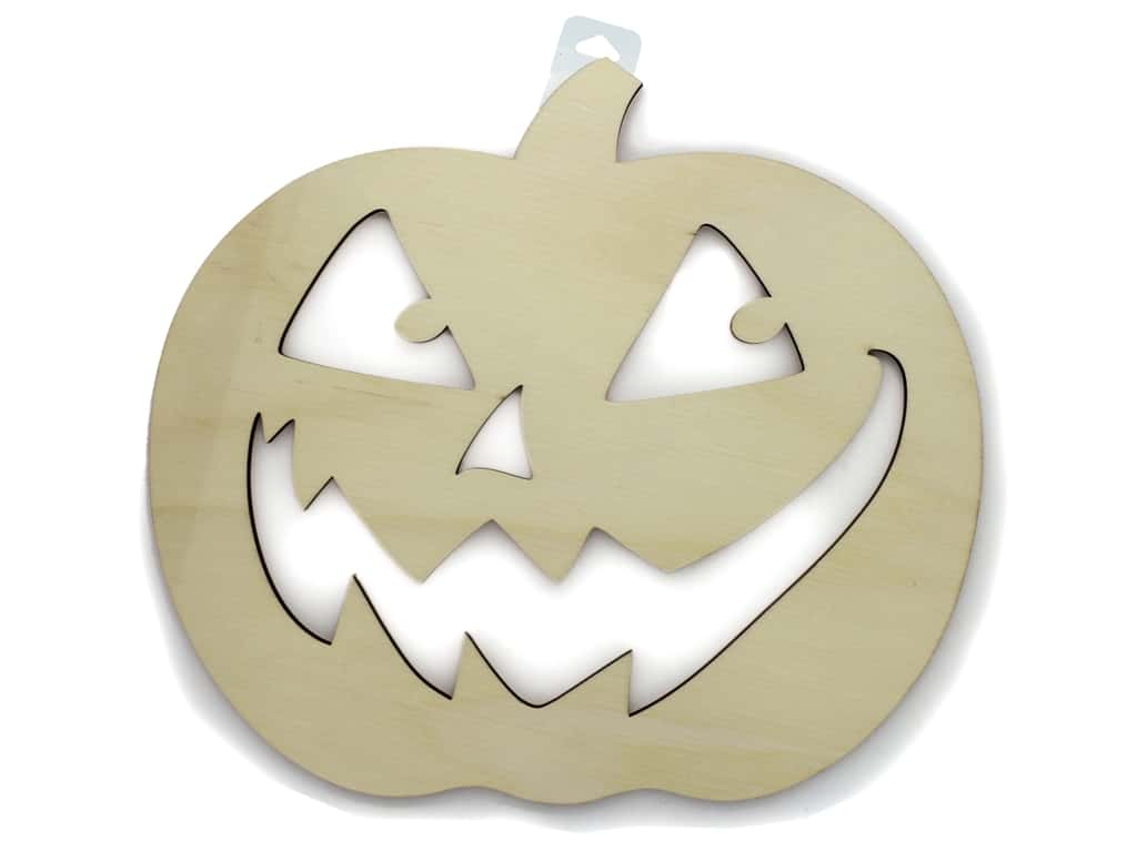 Darice Wood Jack-O-Lantern Face Unfinished 12 in. x 10.75 in.