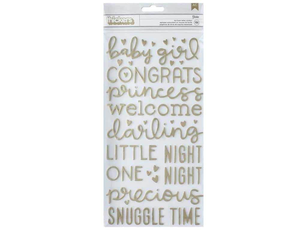 American Crafts Thickers Stickers Words Night Night Girl