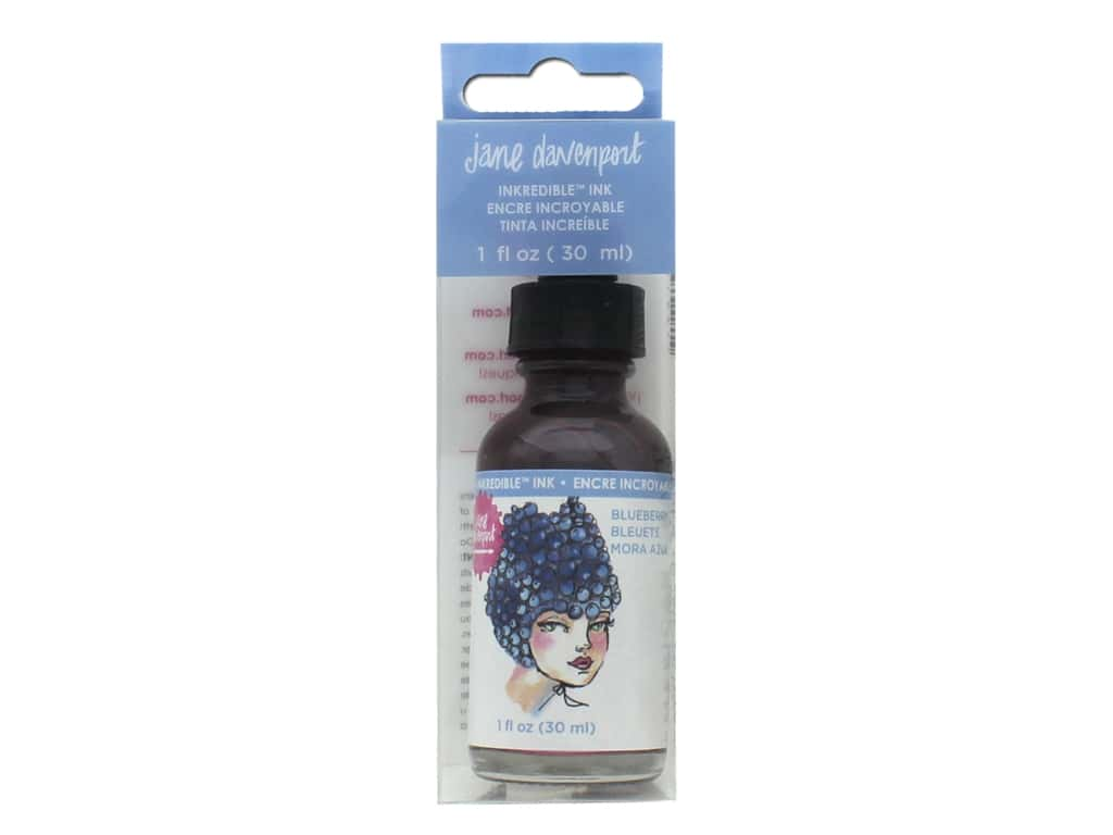 American Crafts Jane Davenport INKredible Scented Ink Blueberry