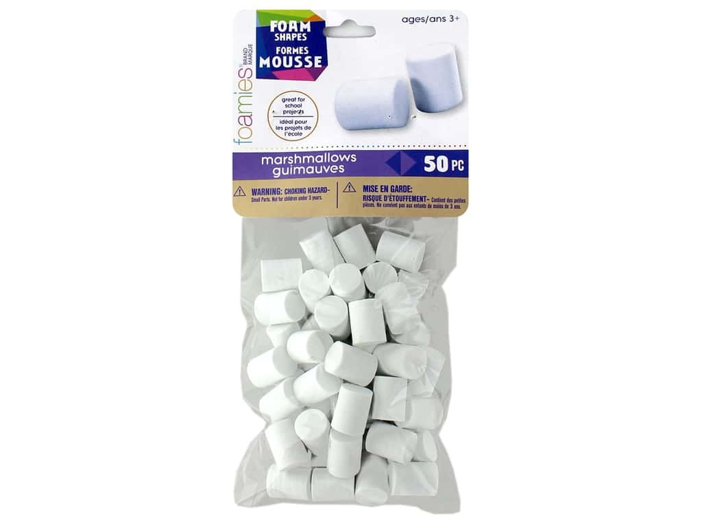 Darice Foamies Marshmallow Shape Small 50 pc
