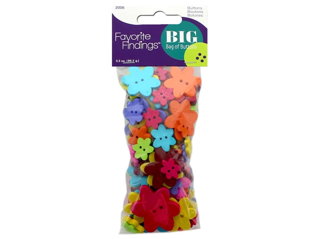 Blumenthal FF Big Bag Of Buttons 3.5 oz Flowers
