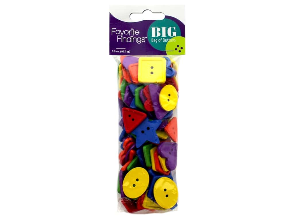 Blumenthal Button Favorite Findings Big Bag 3.5 oz Shapes
