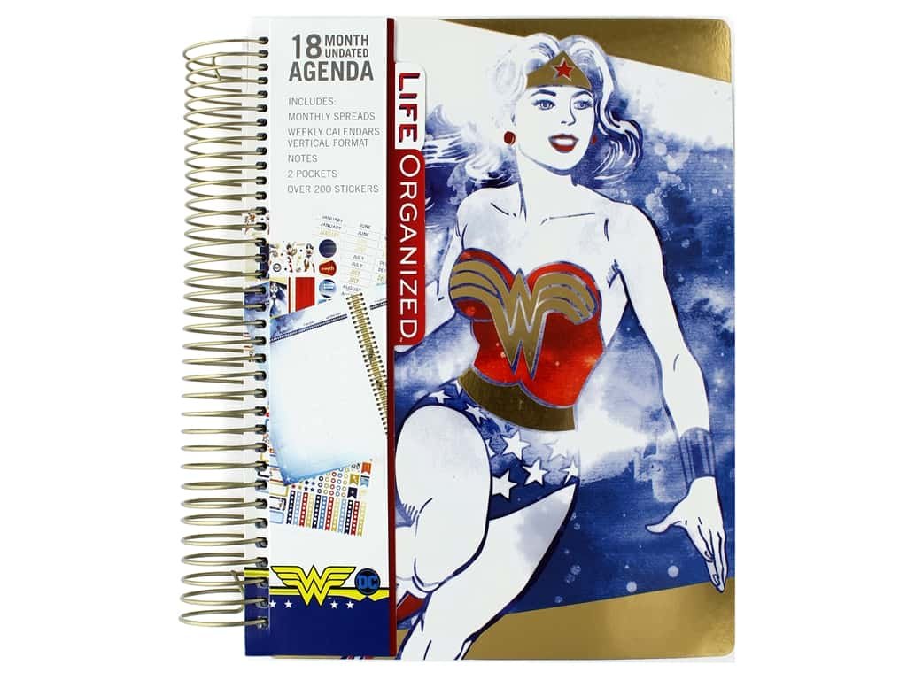 Paper House Collection Life Organized Planner 18 Month DC Comics Wonder Woman