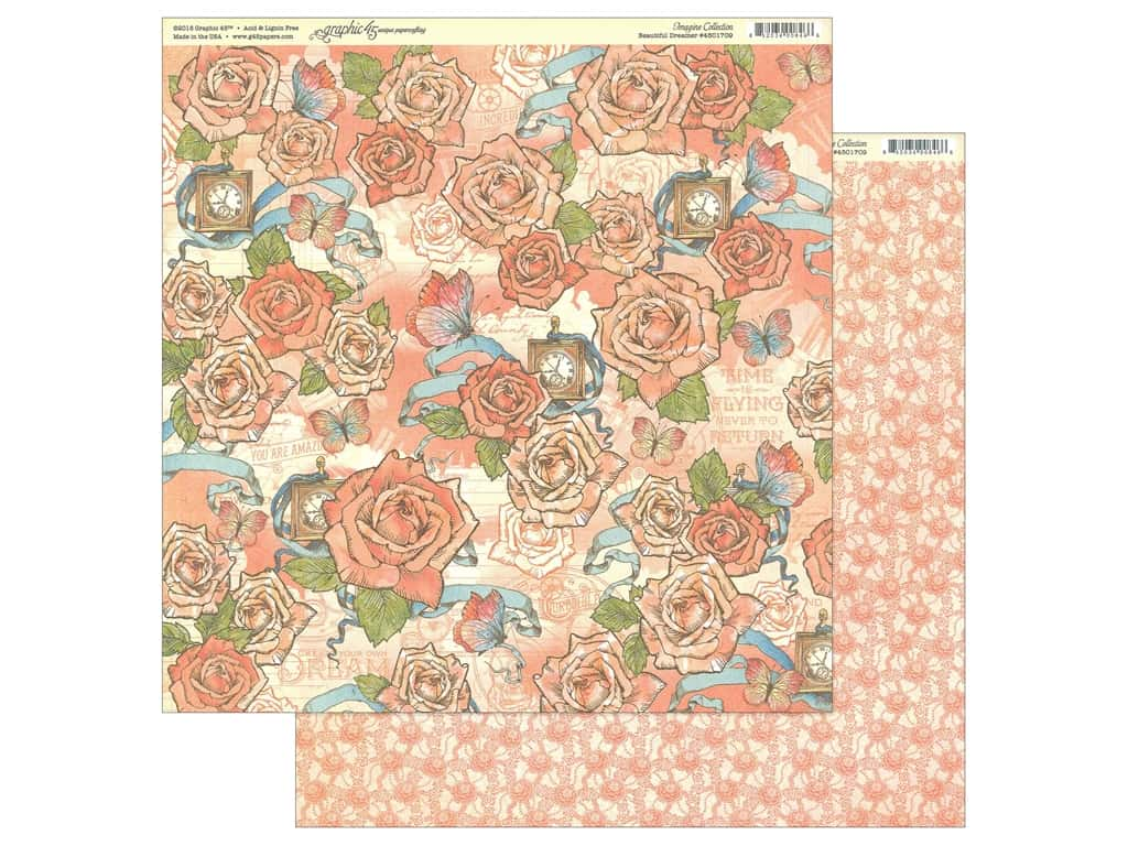 Graphic 45 Collection Imagine Paper 12 in. x 12 in. Beautiful Dreamer (25 pieces)