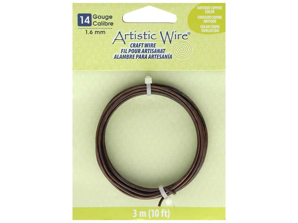 Artistic Wire 14 Gauge Tarnish Resistant Antique Copper 10 ft