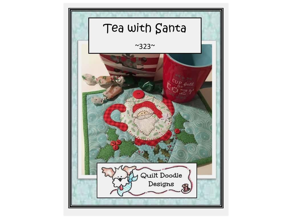 Quilt Doodle Designs Tea with Santa Mug Rug Pattern