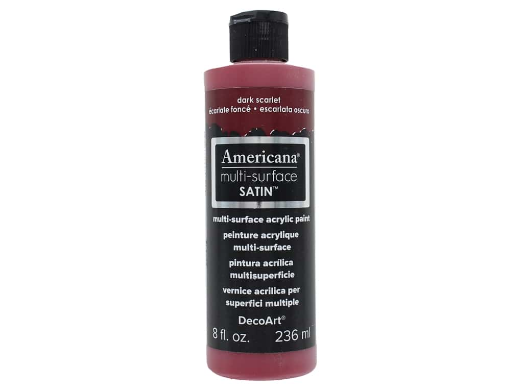 DecoArt Americana Multi-Surface Satin 8 oz. #508 Dark Scarlet