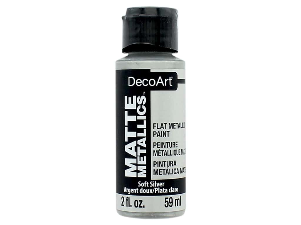 DecoArt Matte Metallics Paint 2 oz. Soft Silver