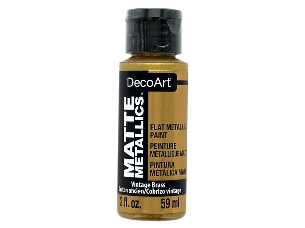DecoArt Matte Metallics Paint 2 oz. Vintage Brass