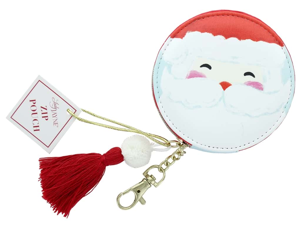 Lady Jayne Zip Pouch Holiday Santa