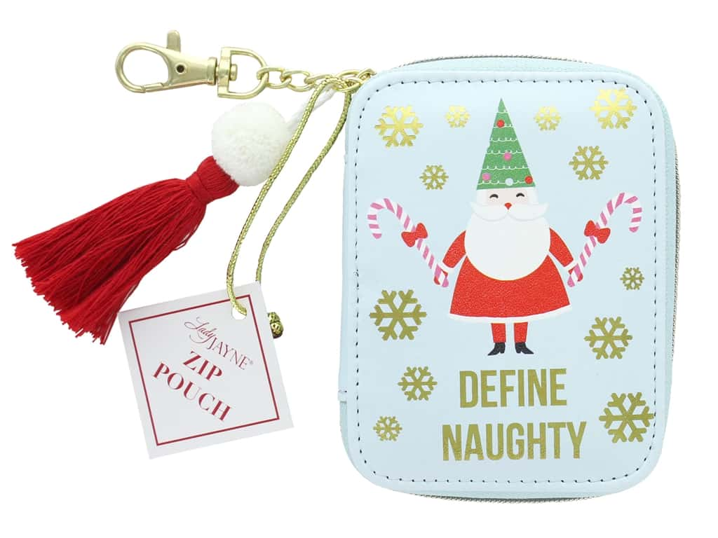Lady Jayne Zip Pouch Holiday Define Naughty Gold