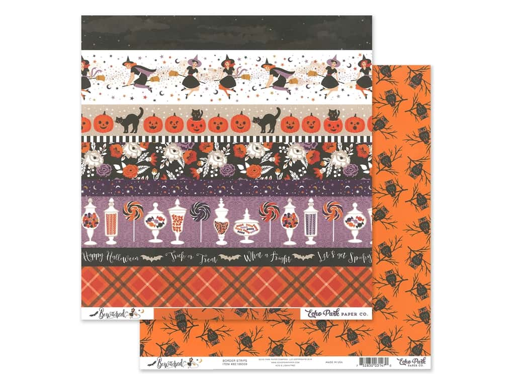 Echo Park Collection Bewitched Paper 12 in. x 12 in. Border Strips (25 pieces)