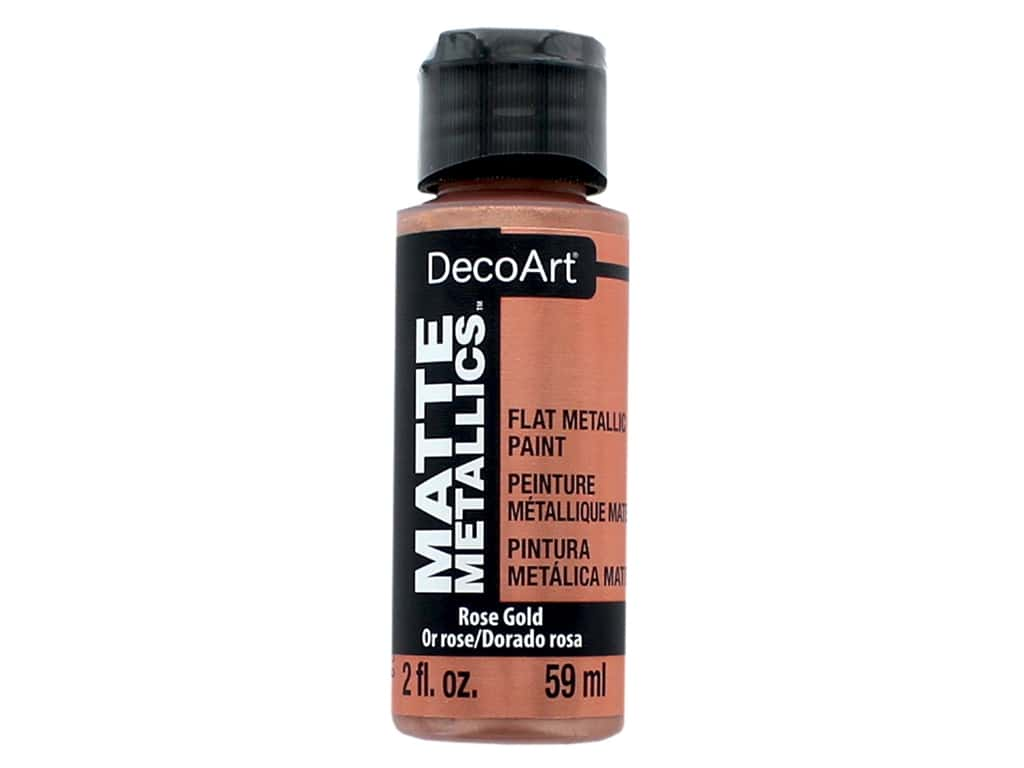 DecoArt Matte Metallics Paint 2 oz. Rose Gold