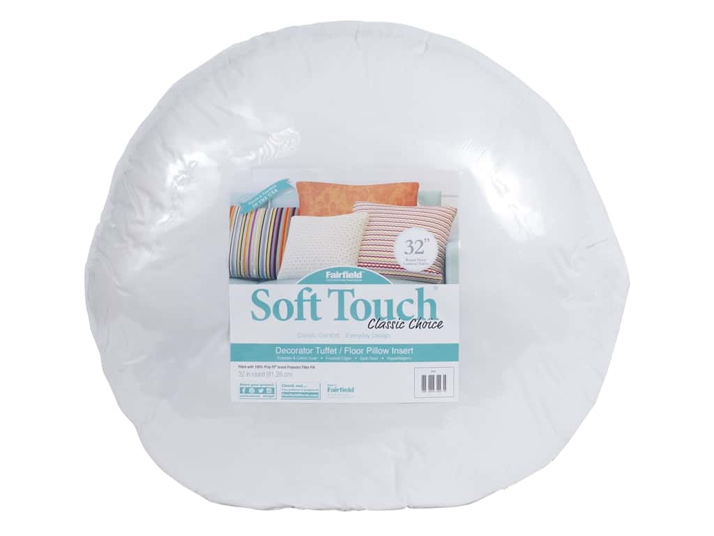 Fairfield Pillow Form Soft Touch Poly Fill Supreme 32 in. Round
