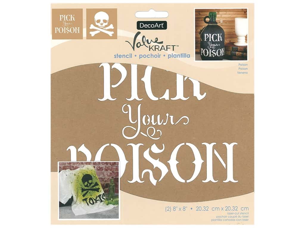 DecoArt Stencil Value Kraft 8 in. x 8 in. Halloween Poison