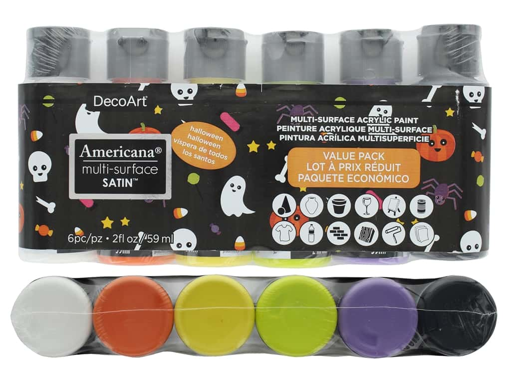 DecoArt Americana Multi-Surface Satin Value Pack 6 pc. Halloween