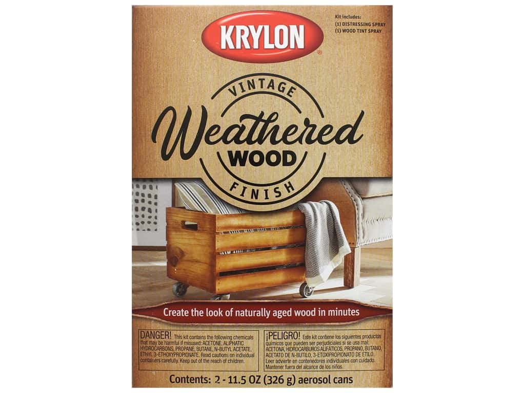 Krylon Paint Kit Vintage Finish Weathered Wood