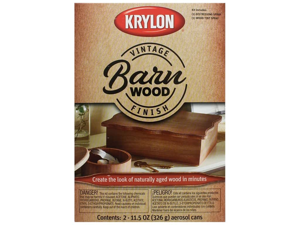 Krylon Paint Kit Vintage Finish Barn Wood