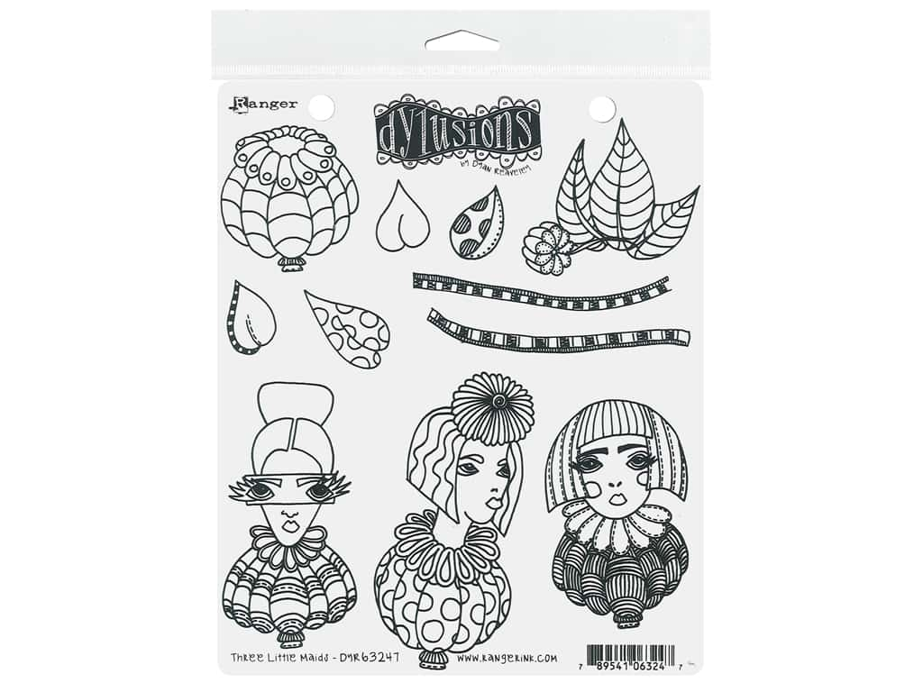 Ranger Stamp Dylusions Cling Three Little Maids
