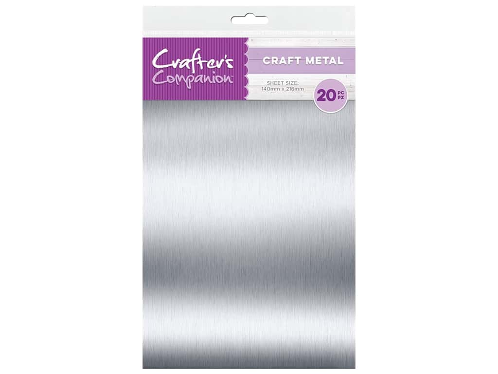"""Crafter's Companion Tools Craft Metal Sheet 5.5""""x 8.5"""" 20pc"""