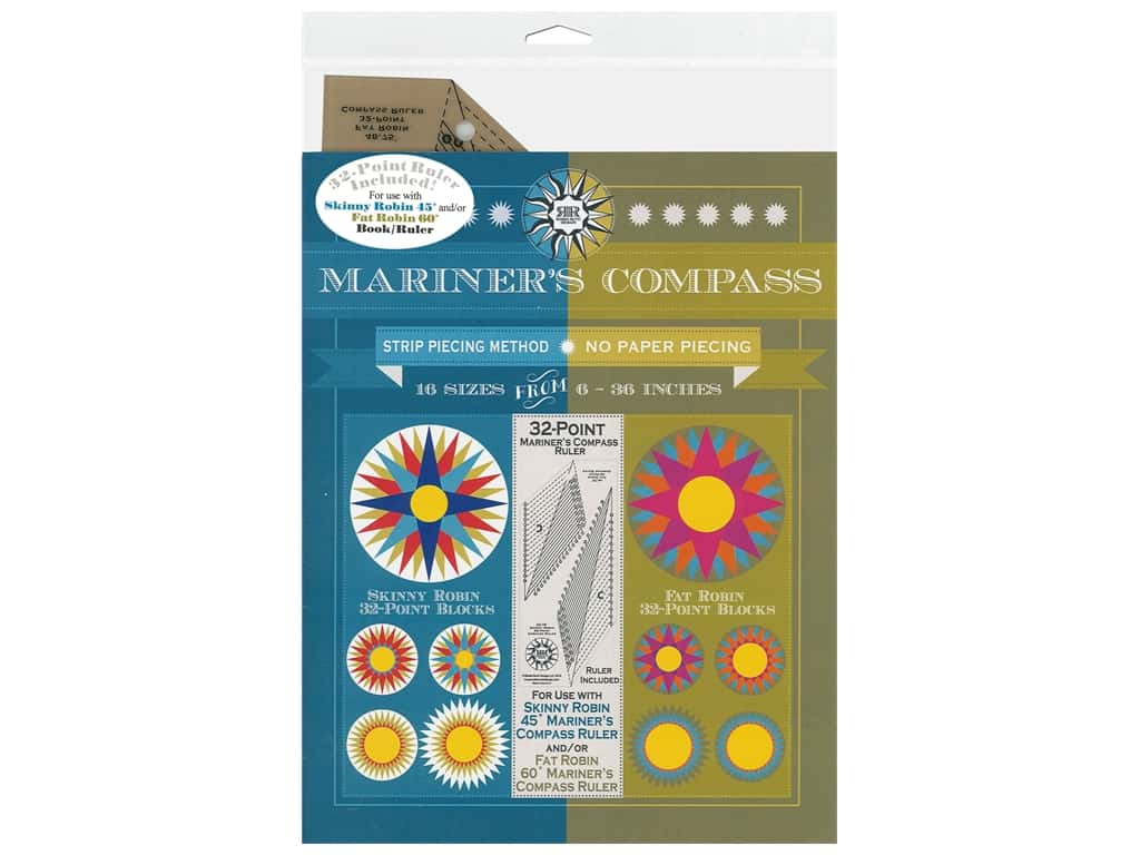 Robin Ruth 32-Point Mariner's Compass Ruler & Book
