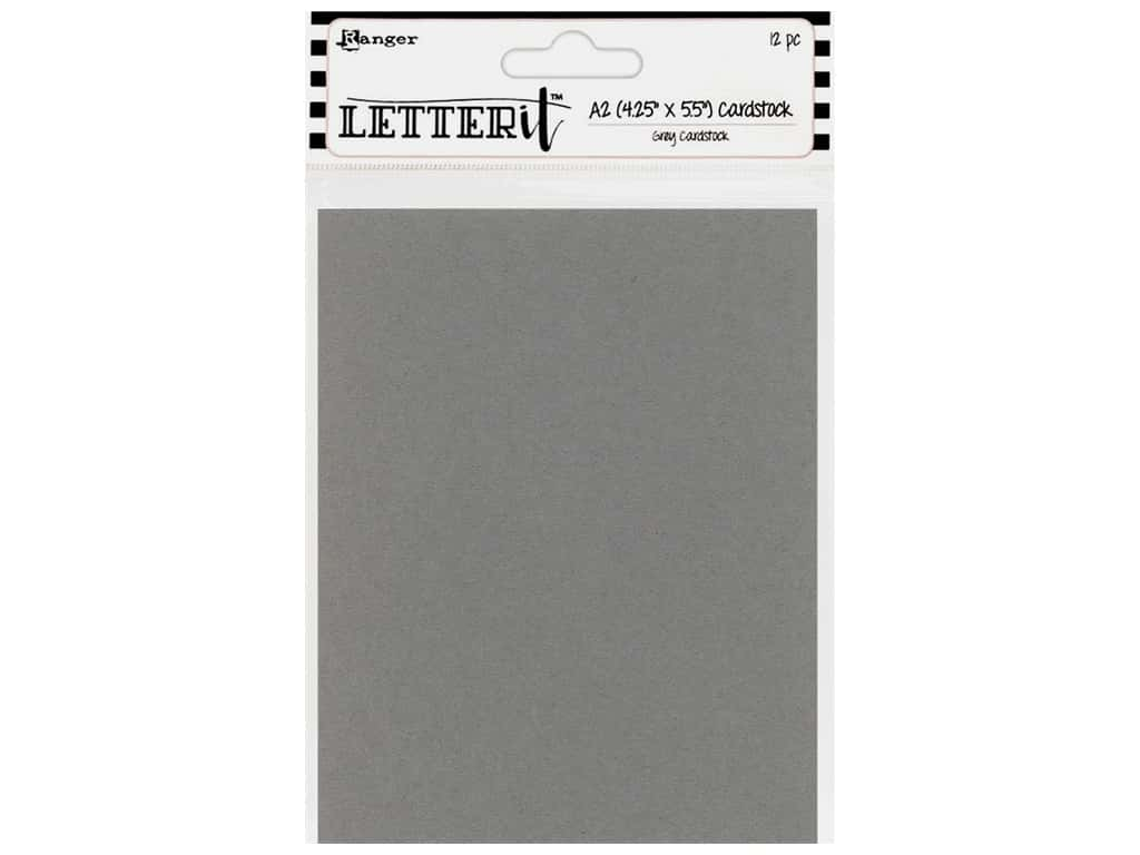 Ranger Letter It Cardstock 4 1/4 x 5 1/2 in. Gray