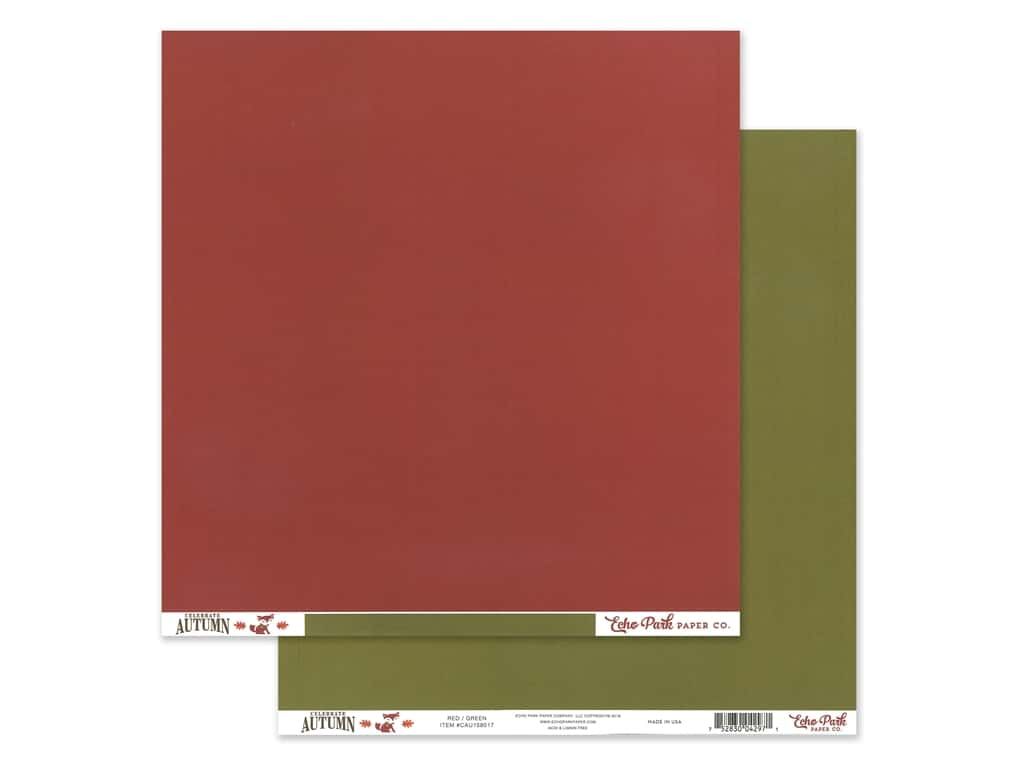Echo Park Celebrate Autumn Paper 12 in. x 12 in. Red/Green (25 pieces)