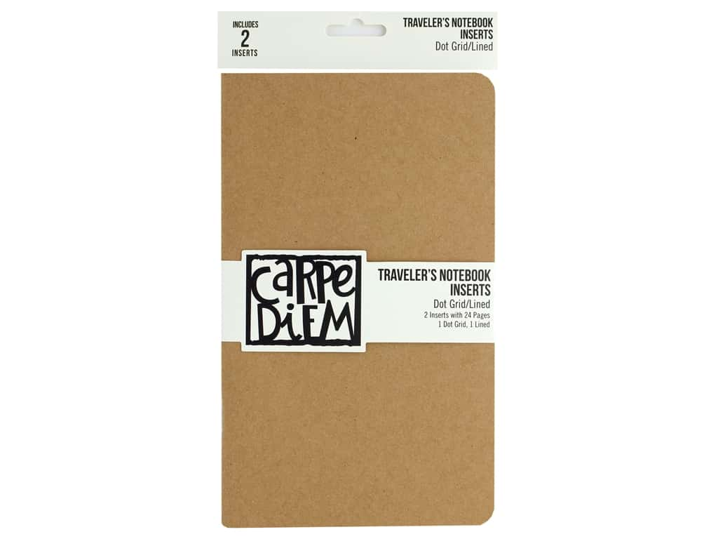Simple Stories Carpe Diem Travel Notebook Insert Grid/Lined