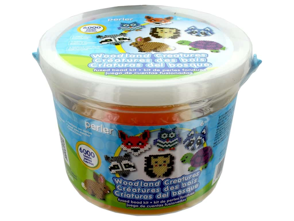 Perler Fused Bead Kit Bucket 6000 pc Woodland Creatures