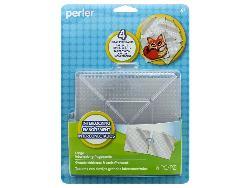 Perler Fused Bead Pegboards Clear Large 4 pc