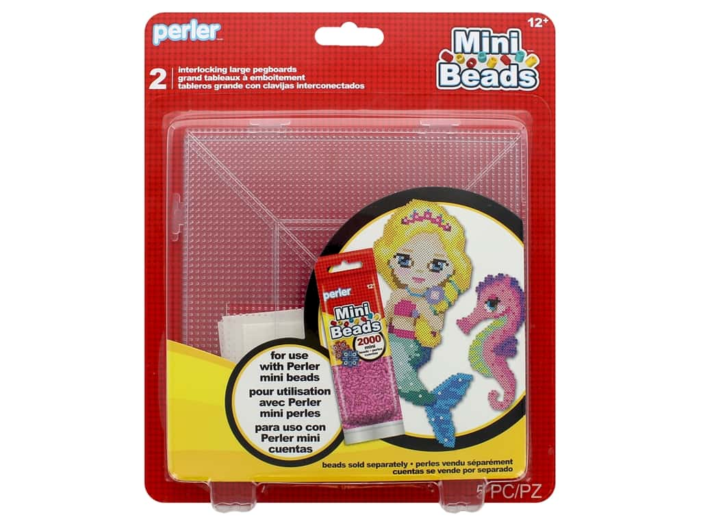 Perler Fused Bead Pegboards Mini Bead 2 pc