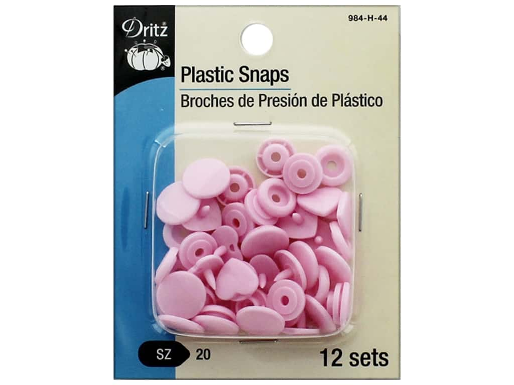 Dritz Snap Plastic Size 20 Heart Pink