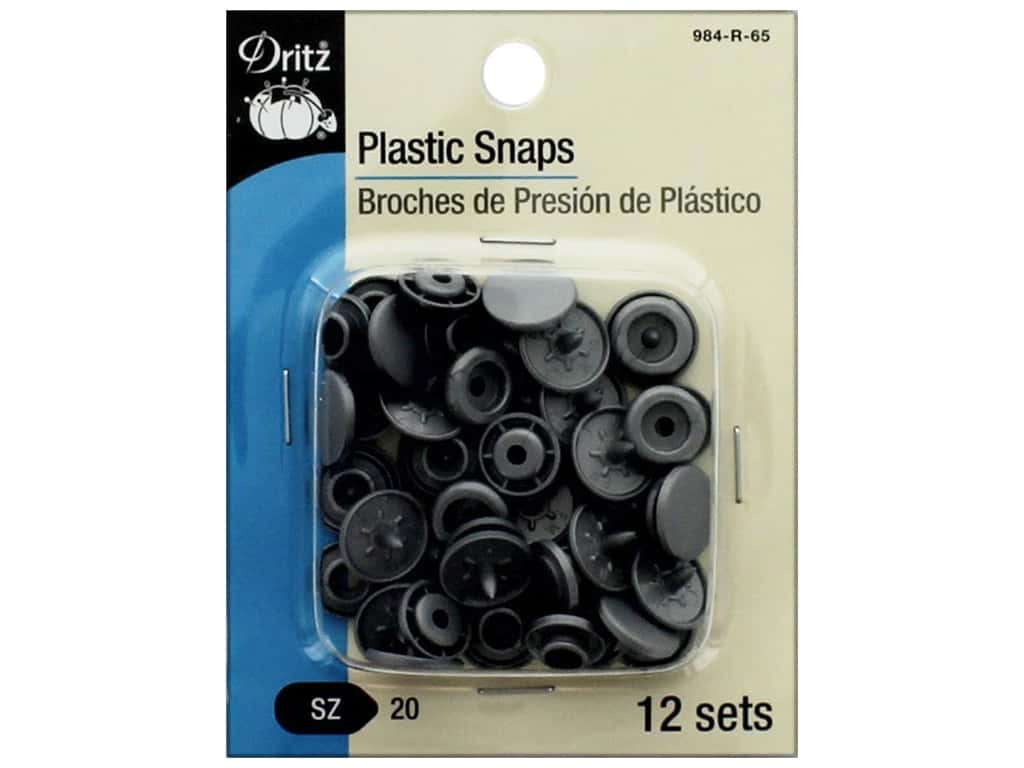 Dritz Snap Plastic Size 20 Round Silver