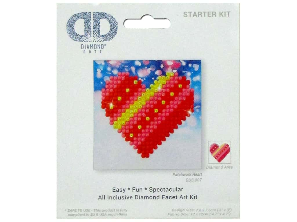 Diamond Dotz Starter Kit - Patchwork Heart