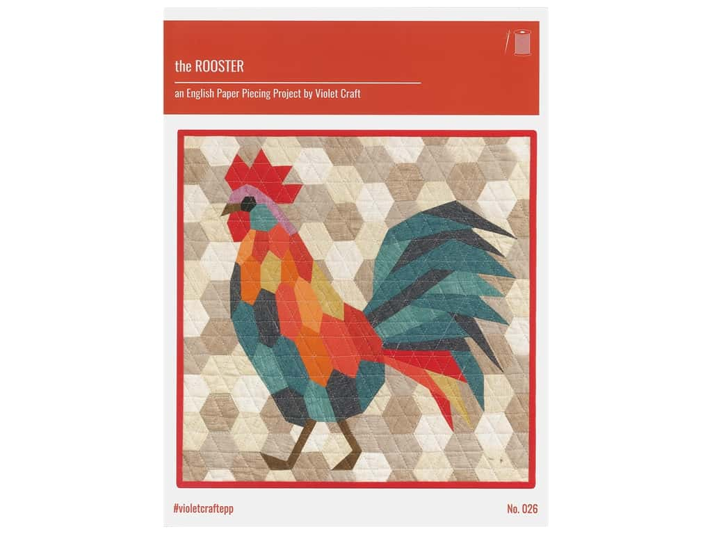 Violet Craft The Rooster English Paper Piecing Pattern