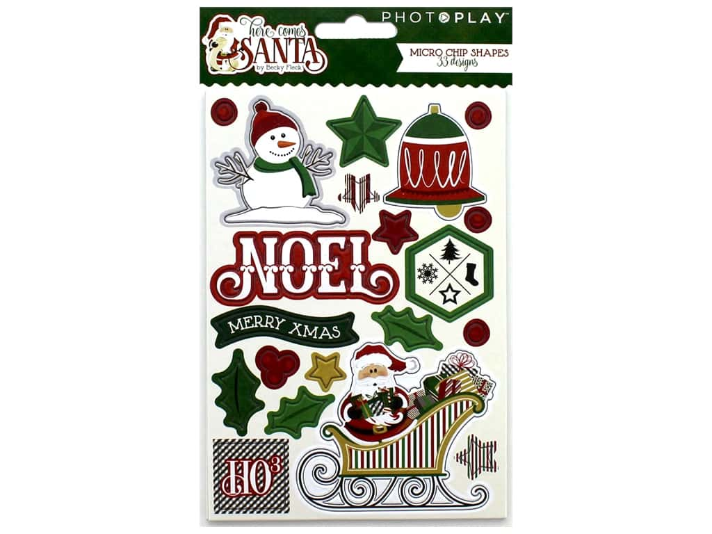 Photo Play Collection Here Comes Santa Chipboard