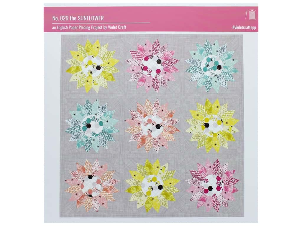 Violet Craft Sunflower English Paper Piecing Pattern