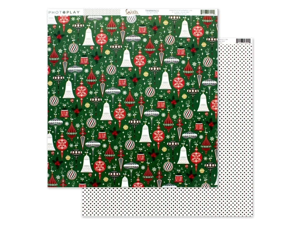 Photo Play 12 x 12 in. Paper Here Comes Santa Trimmings (25 pieces)