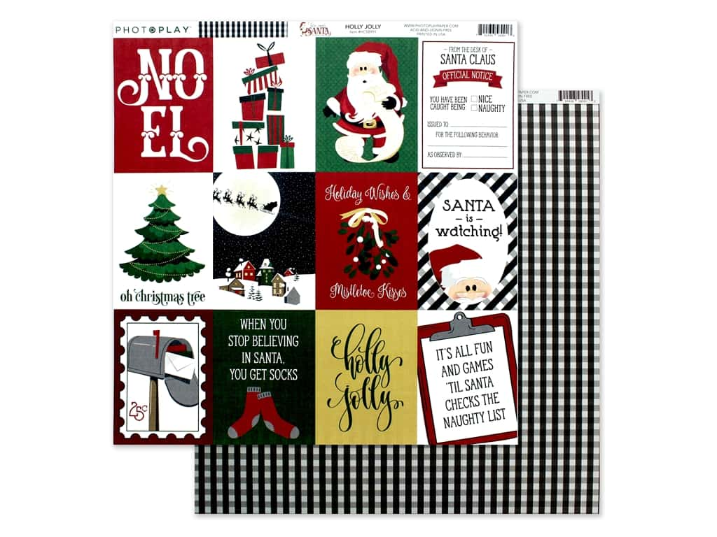 Photo Play Collection Here Comes Santa Paper 12 in. x 12 in. Holly Jolly (25 pieces)