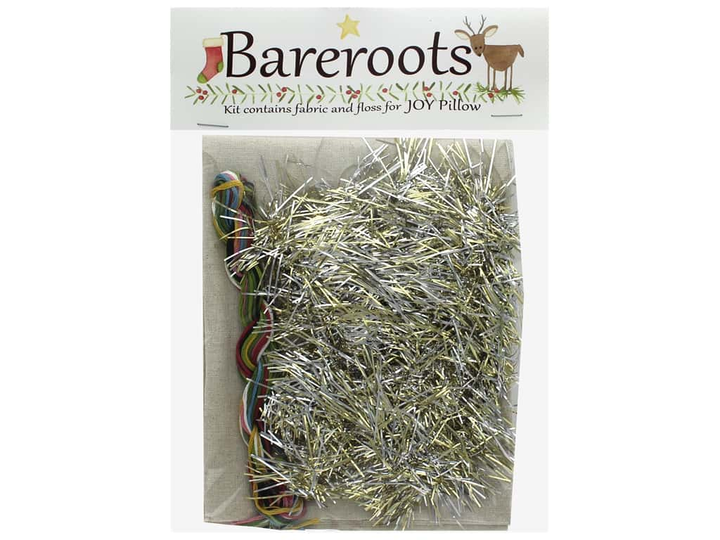 Bareroots Kit Fabric & Floss Joy Pillow