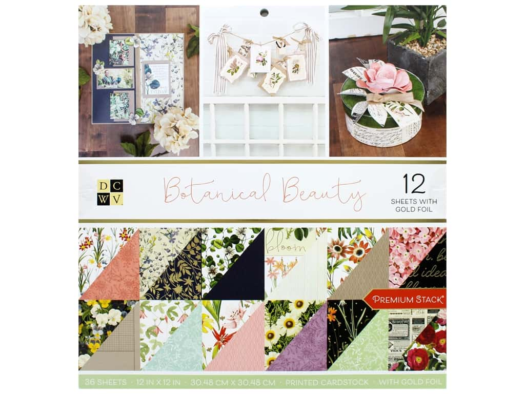 Die Cuts with a View 12 x 12 in. Paper Stack Botanical Beauty