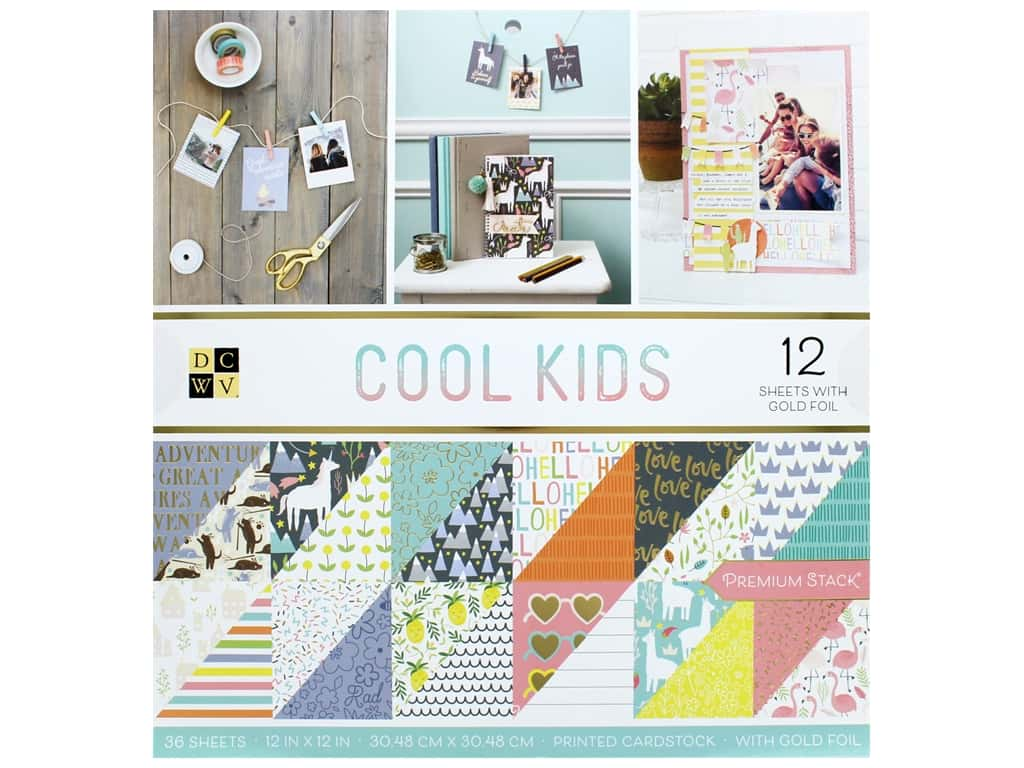Die Cuts with a View 12 x 12 in. Paper Stack Cool Kids