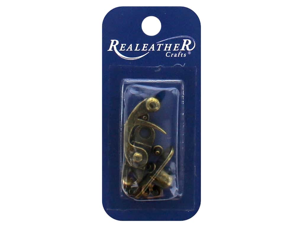 REALEATHER by Silver Creek Findings Swing Clasp Antique Brass