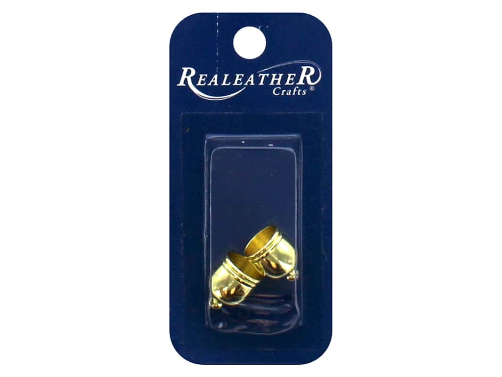 REALEATHER by Silver Creek Findings Tassel End Cap 10 mm Gold