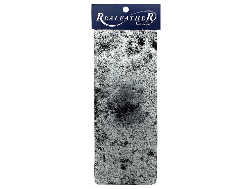 REALEATHER by Silver Creek Leather Trim Printed 9 in. x 3 in. Silver Crackle