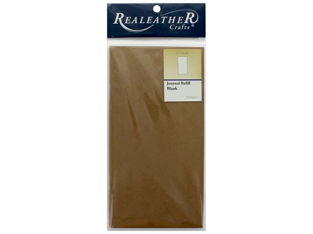 REALEATHER Travel Journal Refill Blank