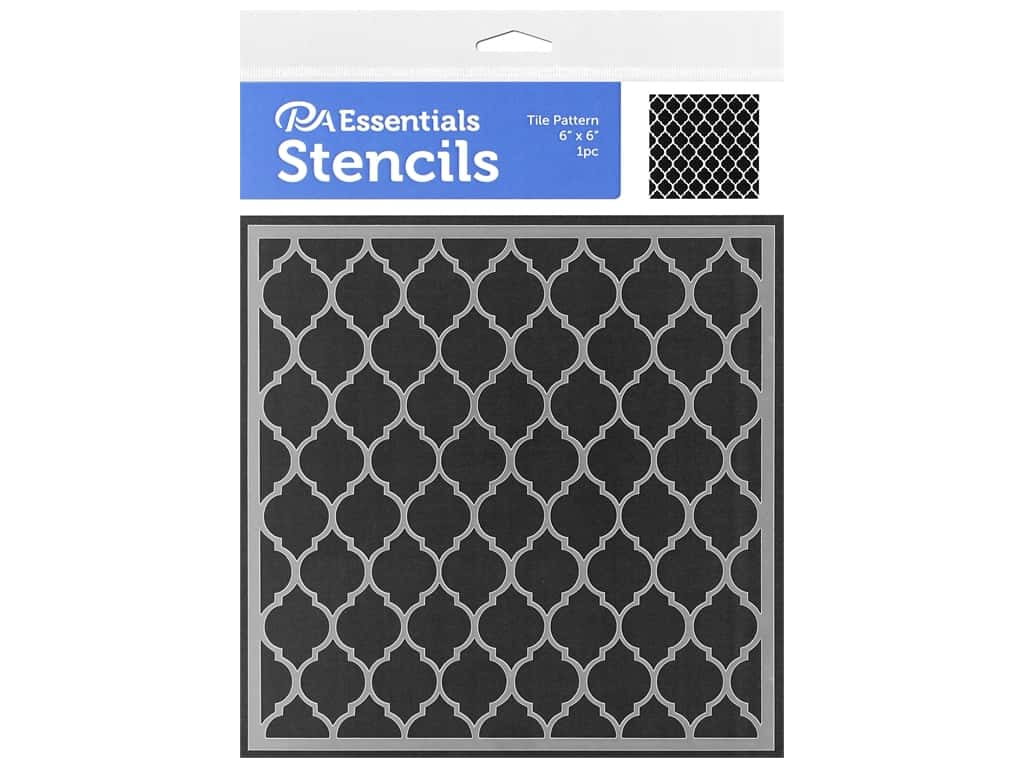 PA Essentials Stencil 6 x 6 in. Tile Pattern