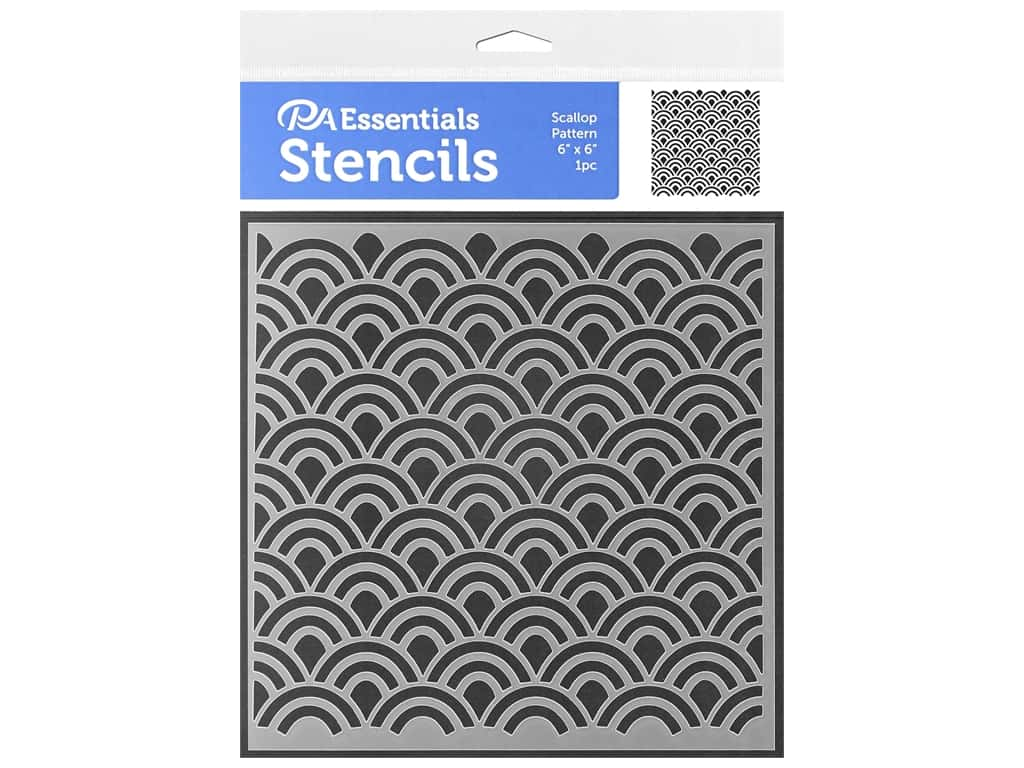 PA Essentials Stencil 6 x 6 in. Scallop Pattern