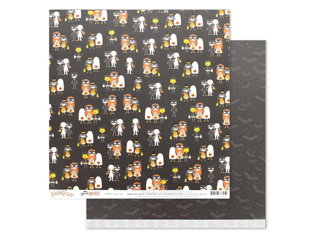Pebbles Spooky Boo 12 in. x 12 in. Trick Or Treat (25 pieces)